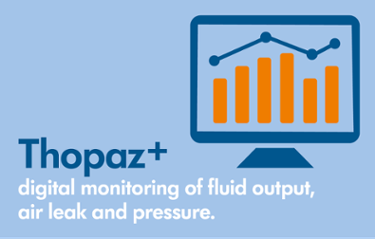 Thopaz+ digital monitoring of fluid output, chest tube air leak and pressure