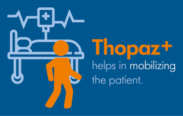 Thopaz+ helps in mobilizing the patient after open-heart surgery.