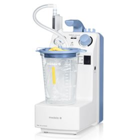 Medela Vario 18 c/i surgical suction with disposable system sideview
