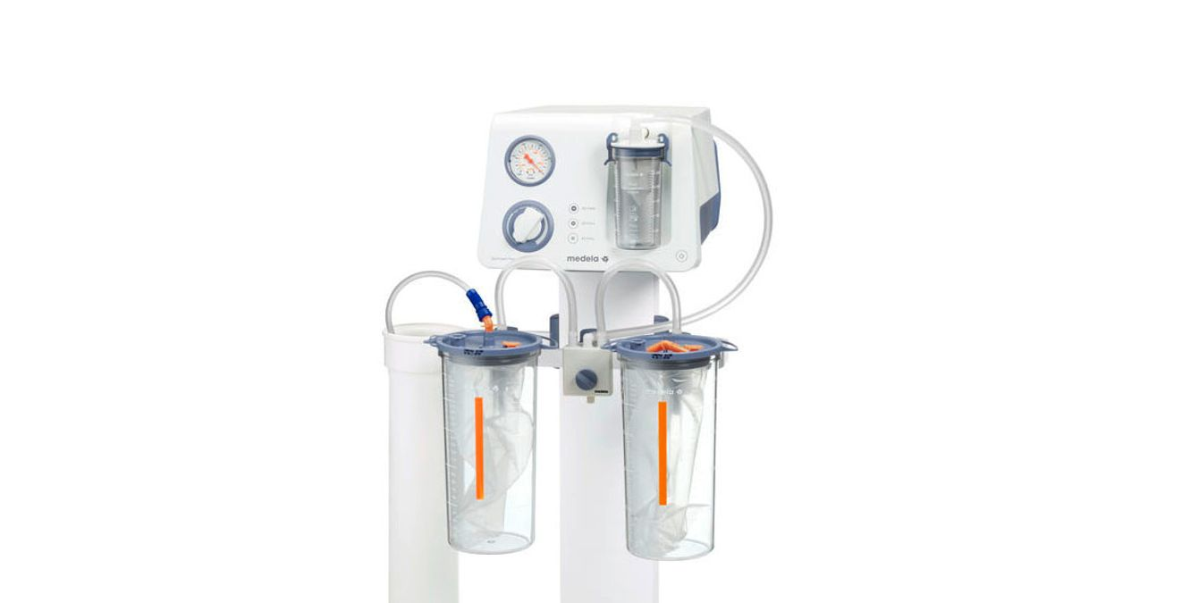 Medela Dominant Flex surgical suction mobile with disposable jars